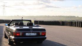 Mercedes W140  против Mercedes W126 на треке.