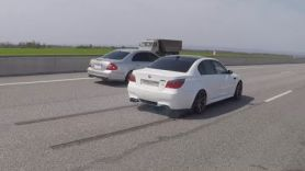 BMW M5 E60 =VS= Mercedes Benz W211 5.5 Kompressor . Мка 9я серия.