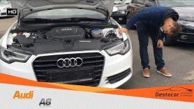 Обзор на Audi A6 2013 белая, крашеная, салон убитый.