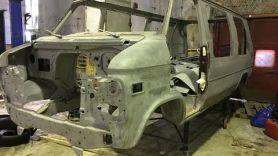 #Реставрация #Chevy Van G20 1995г. Пескоструй. Часть 2
