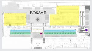 Схема перед вокзалом с бесплатной парковкой